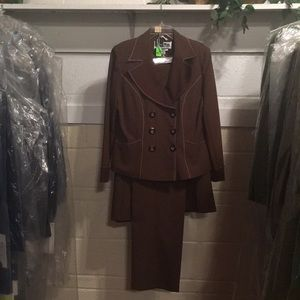 3 Piece Brown Ben Marc Suit